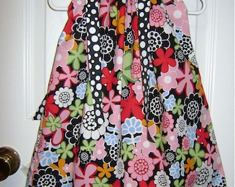 Floral and Dots boutique boutique Pillowcase Dress size 3 months thru 6/7 :PC004