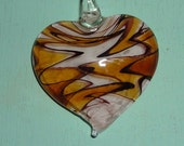large glass heart pendant