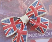 United Kingdom Union Flag Hair Bow