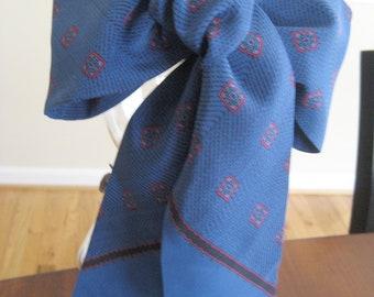 Cobalt Blue Scarf -  Paisley Tie - Head Scarf