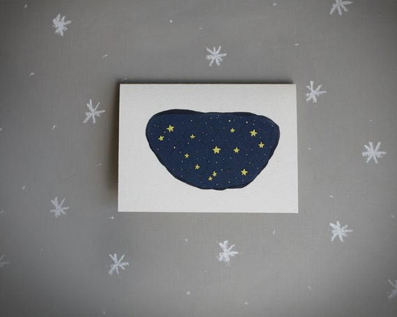 constellation notecard . modern stationery.  astronomy note card . sky .  stars . night  . blank card . stocking stuffer  . navy . space .