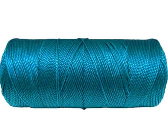 Waxed Thread 15 meters/16 yards, Linhasita cor 707, Cord for Leatherwork, Hand Stitching Cord - Blue Turquoise