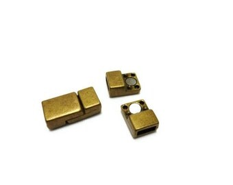 4 Sets strong antique brass Jewelry Magnetic Clasp Bracelet Buckle/Closure Dia.ø 6.25mm x 2.5mm (zk107)