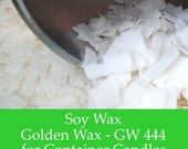 2 lbs. Soy Wax Flakes - GW444 -  All Natural Soy Wax for Candle Making