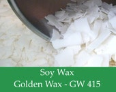 10 lbs. Soy Wax Flakes - GW415 - All Natural Soy Wax for Candle Making.