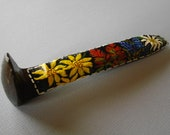 Wildflowers RAILROAD SPIKE Original Decor Paperweight