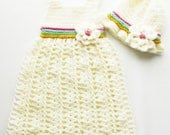Crochet Dress with hat 9-12 months