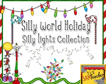 Christmas Lights Clip Art (Silly World Holiday)