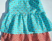 Girls Skirt - size 6-7 Hedgehogs and Dots
