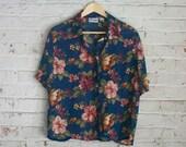 Vintage Floral Sheer Blouse