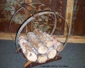 Rustic Log Holder - fireplace log storage - firewood holder