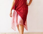 Party Red Sweet Dress Cotton