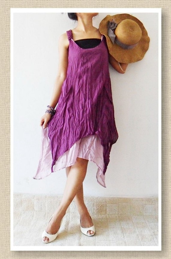 Party  Violet Sweet Dress Cotton