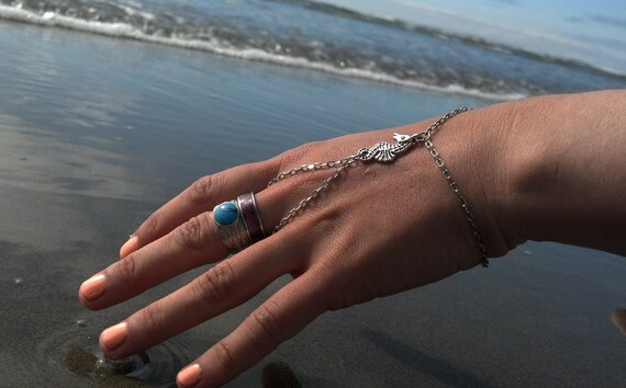 Seahorse Charm Bracelet Ring