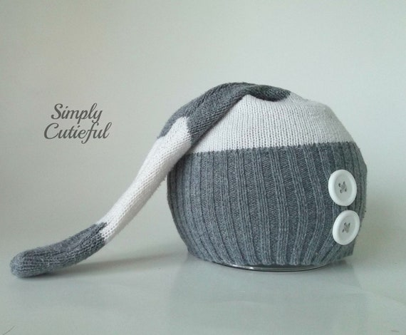 Upcycled Newborn Hat. Baby Boy Hat. Upcycled Photo Prop. Newborn Photo Prop. Upcycled Baby Hat. Ready to Ship. OOAK