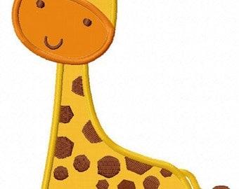 Instant Download Giraffe Applique Machine Embroidery Design NO:1260