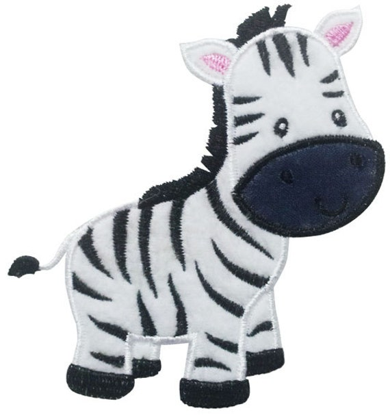 Instant download zebra applique machine embroidery design