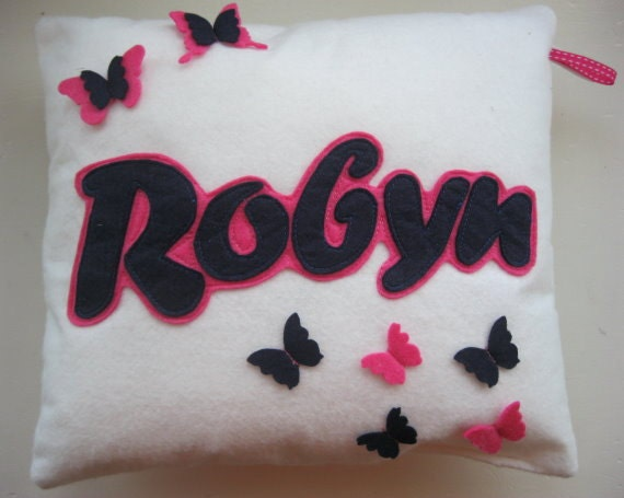 Personalised Name Butterfly Cushion