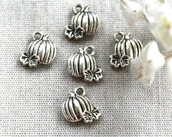 10pcs Darling Tibetan Silver Pumpkin Charms/Pendants