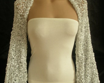 Wedding Shrug Bridal Shrug Wedding Bolero Bridal Bolero Bridesmaids Gift Long Sleeve White Shrug Weddings Accessories