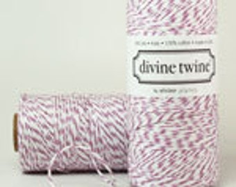 Purple Plum DIVINE Twine-240 yards- (purple and white)
