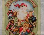 Deer Christmas Fabric Panel