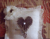 Country Chic...Ring Bearer Pillow....Barn Wedding....Country Wedding....Rustic Theme