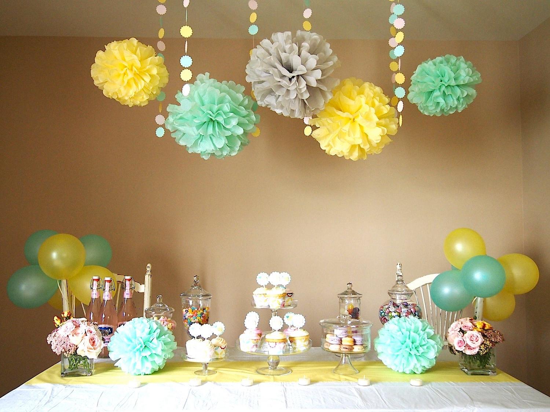 Mint icecream theme diy decoration package light