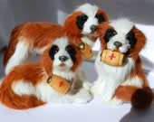 Family of Saint Bernards - Furry Figurines