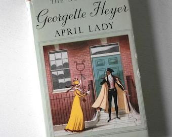 Vintage Georgette Heyer April Lady book