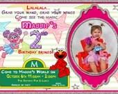 Elmo & Abby Party Invitation