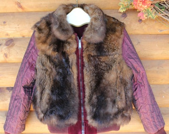 Reversible Ladies Corduroy/Beaver Jacket