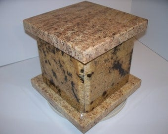 Stone Wedding Box Handmade of Natural Granite Baby Box    Cremation Urn or Keepsake Box