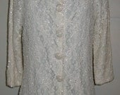 SALE Vintage Beaded Lace Jacket  Womens Formal Glimmering Evening Jacket