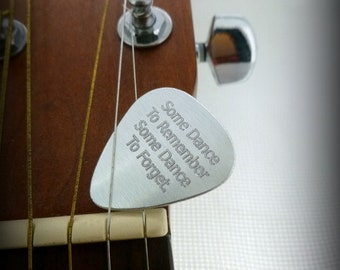 Personalized Guitar Pick - Engraved Aluminum Usable Guitar Pick- boyfriend gift, husband gift, Husband gift,  Husband