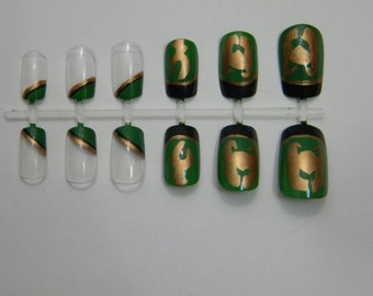 Loki Inspired False Nails