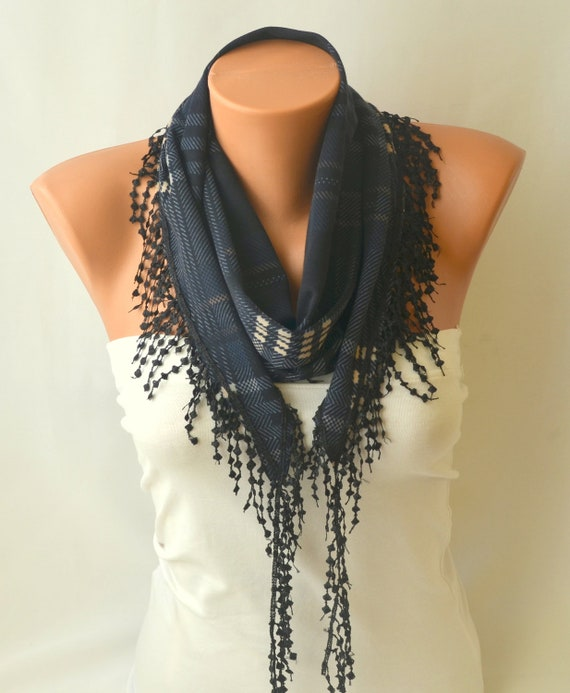 cotton scarf navy blue chunky cotton jersey scarf by bstyle