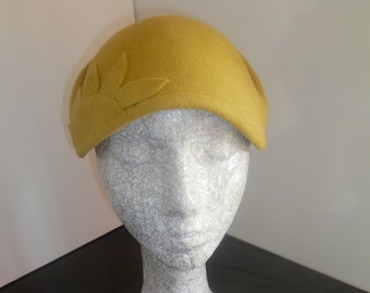 REDUCED TO CLEAR  Yellow  Winter  Fur  Felt  Hat