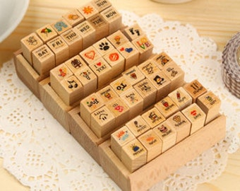 Diary Stamp Set - Rubber Stamp Set - Korean Stamps  - 4 styles in