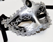 Silver and Black Costume Halloween Mask /Masquerade Party Mask