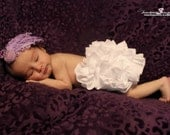 Little Miss Ashley LOTS of MINIATURE White RUFFLES Newborn Infant Toddler Bloomers Diaper Cover by Bloomin Cuties