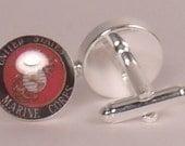 US Marines cuff links-gift for dad-grad-groom-wedding-veteran