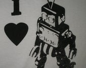 I heart robot T shirt for for the whole family Available in small, medium or large