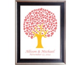 Wedding Tree Signature with hearts - Wedding Tree Guestbook Alternative