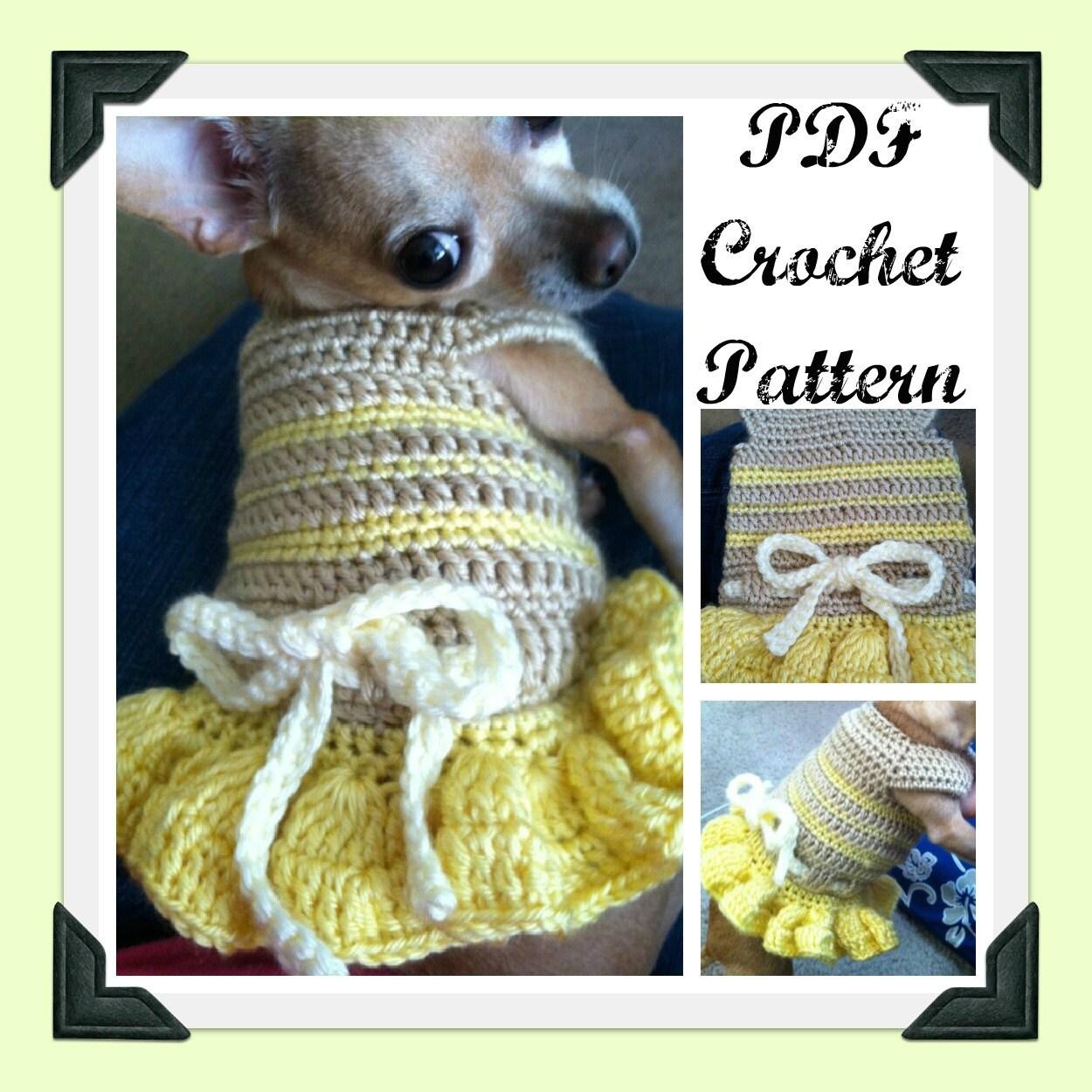 PDF Crochet Pattern Summer Fun Dog Dress INSTANT by