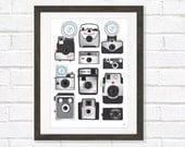 Retro Camera Art poster A3 or 11 x14