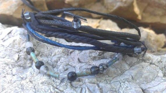 Men's Bracelet - Seeing - Quartz, Glass, Fiber, Wood