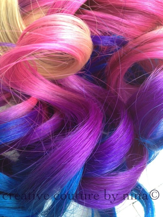 Dying Blonde Extensions Purple 109