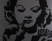 "Lucille Ball Graffiti Art Stencil 16""x20"""