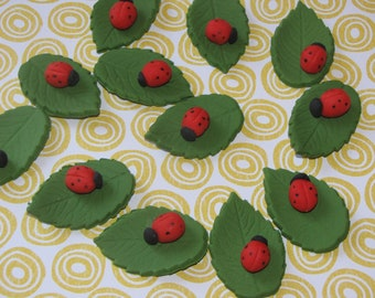 Lady bug cupcake toppers set of 12, 24 or 50